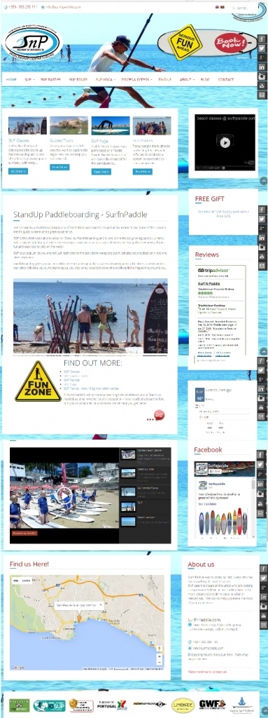 Latest versuib SurfnPaddle website